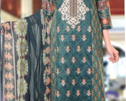 3 Piece Un-Stitched Chiffon Embroidered Lawn VS-VOL-3-2A