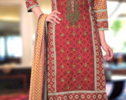 3 Piece Un-Stitched Chiffon Embroidered Lawn VS-VOL-3-1B