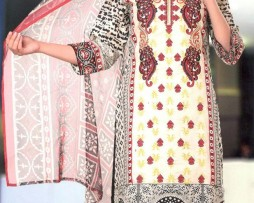 3 Piece Un-Stitched Chiffon Embroidered Lawn VS-VOL-3-6A