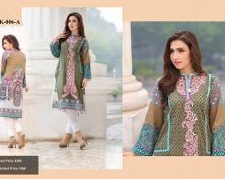Un-stitched Embroidered Lawn Tunics FC-K-006-A