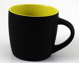 Black & Yellow Ceramic Mugs for Corporate Branding