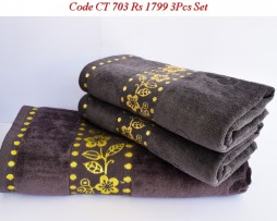 Velour Towel Set-CT 703