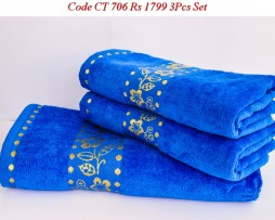 Velour Towel Set-CT 706