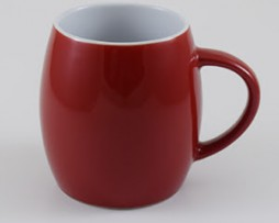 Red Ceramic Mugs for Corporate Branding