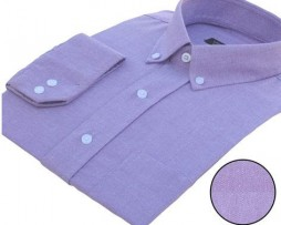 Lilac Oxford Button Down Full Sleeves Shirt