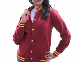 Maroon Jacket with Yellow Buttons
