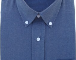 Grey Oxford Button Down Full Sleeves Shirt