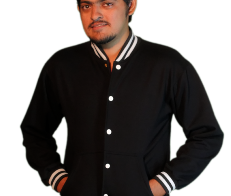 Black Jacket with White Buttons