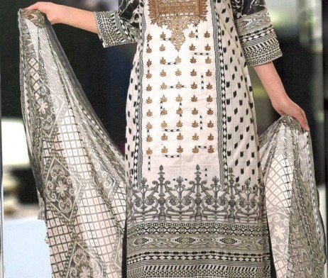 3 Piece Un-Stitched Chiffon Embroidered Lawn VS-VOL-3-7A