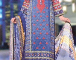 3 Piece Un-Stitched Chiffon Embroidered Lawn VS-VOL-3-1A
