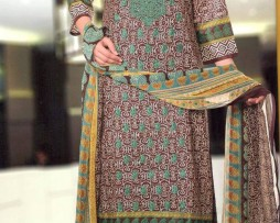 3 Piece Un-Stitched Chiffon Embroidered Lawn VS-VOL-3-4B