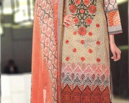 3 Piece Un-Stitched Chiffon Embroidered Lawn VS-VOL-3-5B