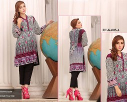 Un-stitched Embroidered Lawn Tunics FC-K-005-A