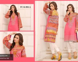 Un-stitched Embroidered Lawn Tunics FC-K-004-A