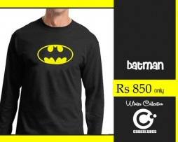 Batman Black Full Sleeves T-shirt