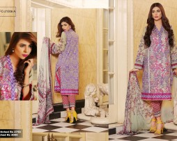 3 Piece Un-stitched Printed & Embroidered Lawn FC 21006-A