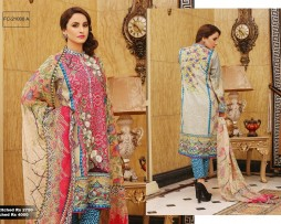 3 Piece Un-stitched Printed & Embroidered Lawn FC 21008-A