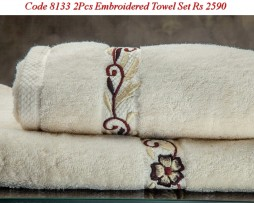 Embroided Towel Set-8133