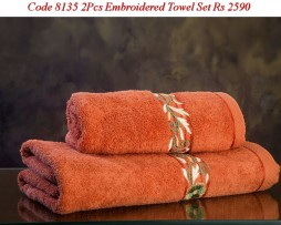Embroided Towel Set-8135