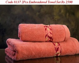 Embroided Towel Set-8137