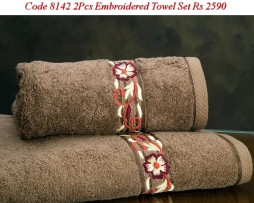 Embroided Towel Set-8142