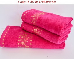 Velour Towel Set-CT 707