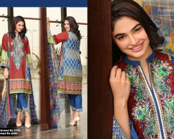 3 Piece Un-stitched Printed & Embroidered Lawn FC 21005-A