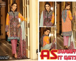 3 Piece Un-stitched Printed & Embroidered Lawn FC 21004-B