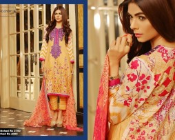 3 Piece Un-stitched Printed & Embroidered Lawn FC 21001-B