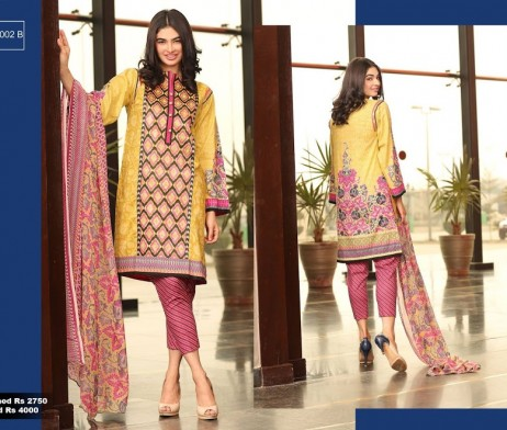 3 Piece Un-stitched Printed & Embroidered Lawn FC 21002-B