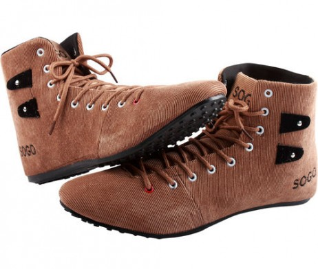 Corduroy Coffee High Rise Casual Shoes