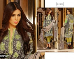 3 Piece Un-stitched Printed & Embroidered Lawn FC 21007-B