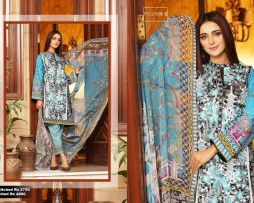 3 Piece Un-stitched Printed & Embroidered Lawn FC 21006-B