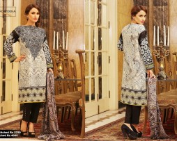 3 Piece Un-stitched Printed & Embroidered Lawn FC 21009-A