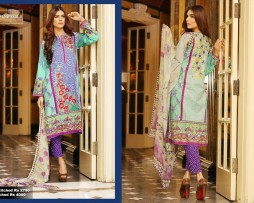 3 Piece Un-stitched Printed & Embroidered Lawn FC 21008-B