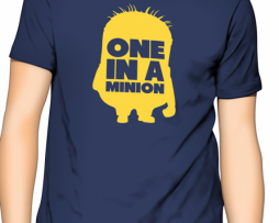 One In A Minion Dark Blue Half Sleeves T-shirt