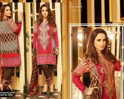 3 Piece Un-stitched Printed & Embroidered Lawn FC 21005-B