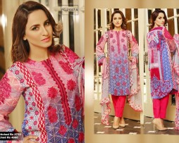 3 Piece Un-stitched Printed & Embroidered Lawn FC 21007-A