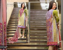 3 Piece Un-stitched Printed & Embroidered Lawn FC 21004-A