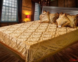 High Quality Jacquard Bed Cover SQ201